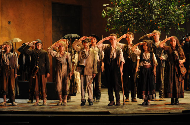 Our Hamish is in the Opera - image 2014-Hamish-in-Carmen-3rd-from-left on https://www.johncolet.nsw.edu.au
