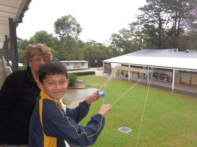 Mrs Donald and a keen inventor - image Anikan-Khandhar on https://www.johncolet.nsw.edu.au