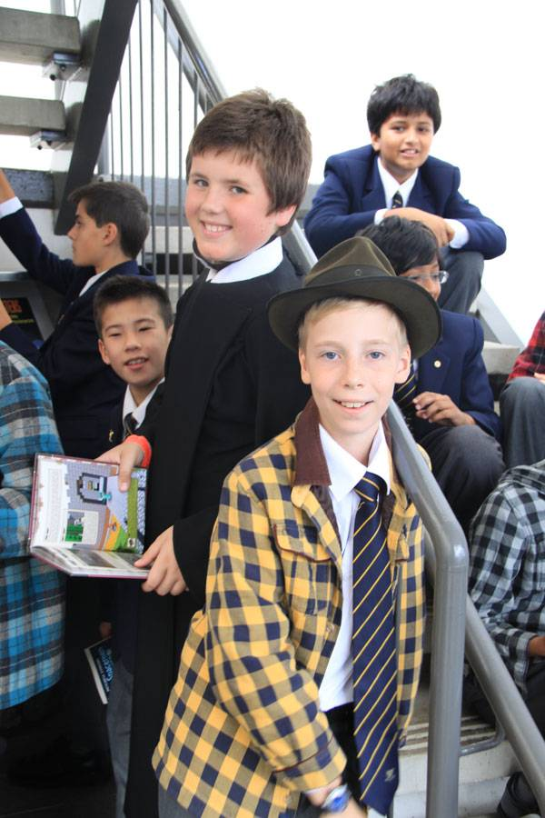 6th class recitation at Open Day - image a-bush-christening2 on https://www.johncolet.nsw.edu.au