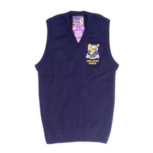 boys vest navy