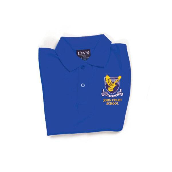 Girls Netball Skirt - image coloured-tops-blue-600x600 on https://www.johncolet.nsw.edu.au