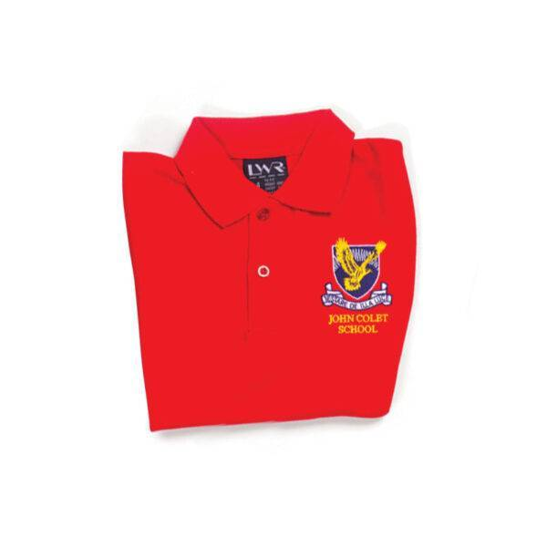 Girls Netball Skirt - image coloured-tops-red-600x600 on https://www.johncolet.nsw.edu.au