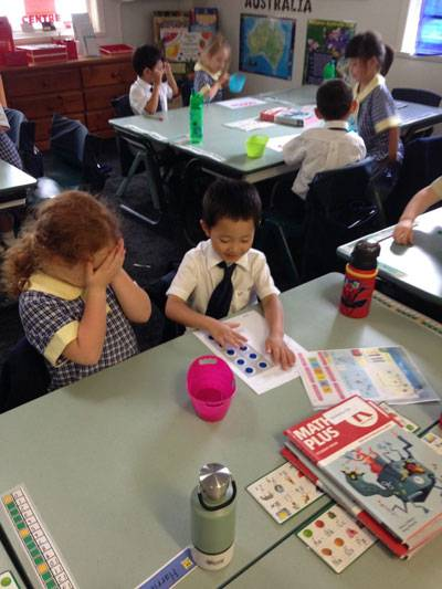 Making a game of it in Lower First Maths - image harriet-and-dylan-smaller on https://www.johncolet.nsw.edu.au